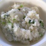 七草入っているかどうかは怪しいところですが、七草粥。食べ終わった直後に空腹感を感じる健康的な食べ物ですね。