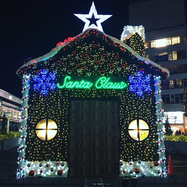 吉祥寺駅前、例年はクリスマスツリーだったと記憶していたのですが、変わったのかしら? - Instagramより
